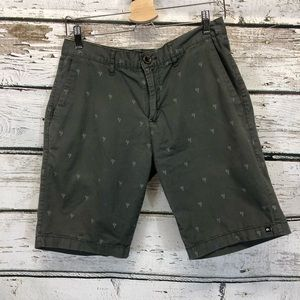 Quicksilver Green shorts Palm Trees Size 30